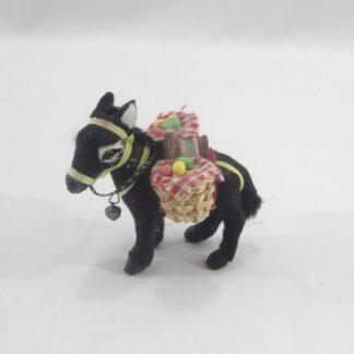 Διακοσμητικό ζωάκι με γούνα γαιδουράκι μαύρο