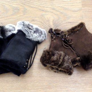 Γούνινα γάντια χωρίς δάχτυλα 3