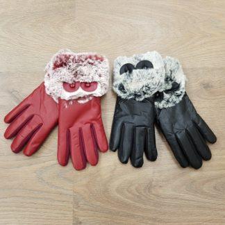 Γάντια δερμάτινα γυναικεία
