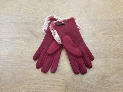 Γάντια δερμάτινα γυναικεία κόκκινο2