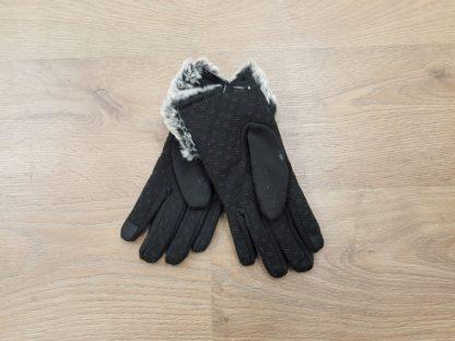 Γάντια δερμάτινα γυναικεία μαύρο2