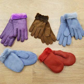 Γάντια με γούνα παιδικά