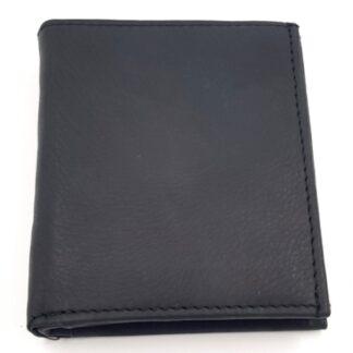 Ανδρικό δερμάτινο πορτοφόλι νουμπούκ μαύρο