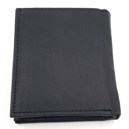 Ανδρικό δερμάτινο πορτοφόλι νουμπούκ μαύρο2