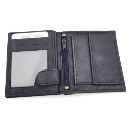 Ανδρικό δερμάτινο πορτοφόλι νουμπούκ μαύρο3