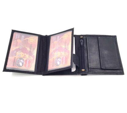 Ανδρικό δερμάτινο πορτοφόλι νουμπούκ μαύρο4