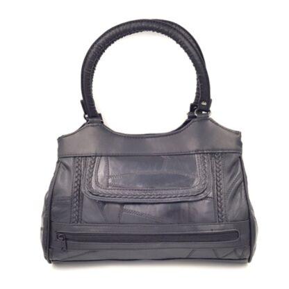 Δερμάτινη γυναικεία τσάντα μαύρο