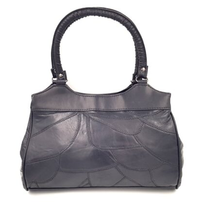 Δερμάτινη γυναικεία τσάντα μαύρο2