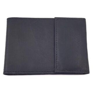 Δερμάτινη καρτοθήκη νουμπούκ μαύρο