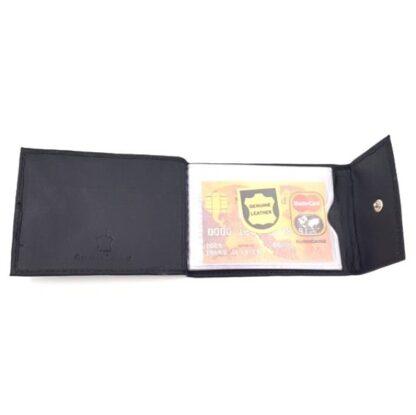 Δερμάτινη καρτοθήκη νουμπούκ μαύρο3