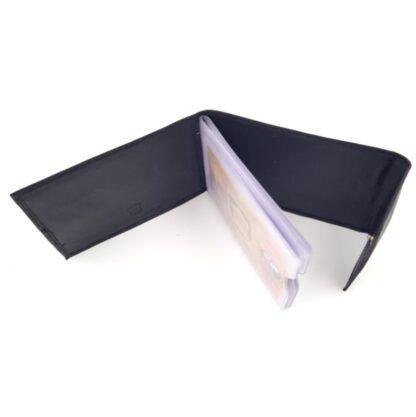 Δερμάτινη καρτοθήκη νουμπούκ μαύρο4