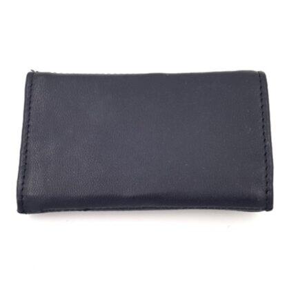 Δερμάτινη κλειδοθήκη πορτοφόλι μαύρο2