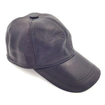 Δερμάτινο καπέλο τζόκευ μαύρο