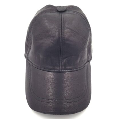 Δερμάτινο καπέλο τζόκευ μαύρο2