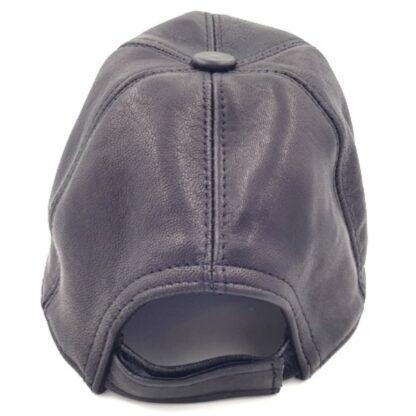 Δερμάτινο καπέλο τζόκευ μαύρο3