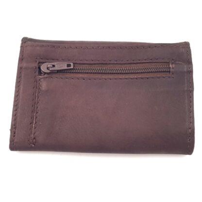 Δερμάτινο πορτοφόλι κλειδοθήκη καφέ2