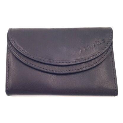 Δερμάτινο πορτοφόλι κλειδοθήκη μαύρο