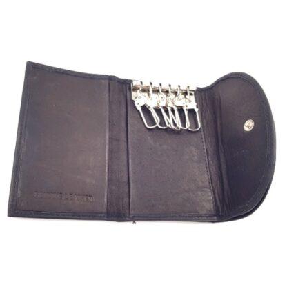 Δερμάτινο πορτοφόλι κλειδοθήκη μαύρο3