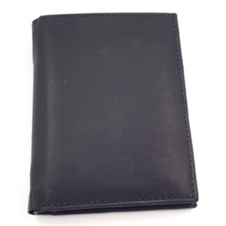 Δερμάτινο πορτοφόλι νουμπούκ μαύρο