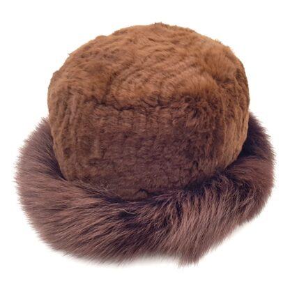 Γούνινο καπέλο γυναικείο καφέ