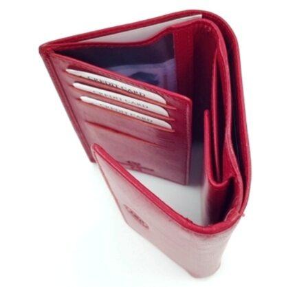 Μεγάλο δερμάτινο πορτοφόλι κόκκινο4