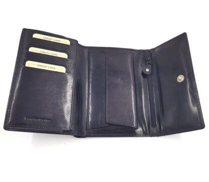 Μεγάλο δερμάτινο πορτοφόλι μαύρο3