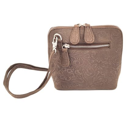Μικρή δερμάτινη γυναικεία τσάντα ταμπά2