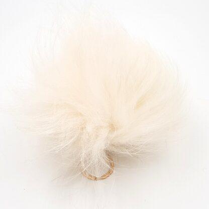 Πομ πομ γούνινο λευκό