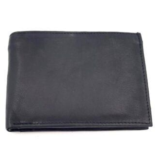 Πορτοφόλι δέρμα ταυτότητας νουμπούκ μαύρο
