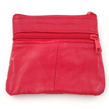 Πορτοφόλι κερμάτων με φερμουάρ κόκκινο2