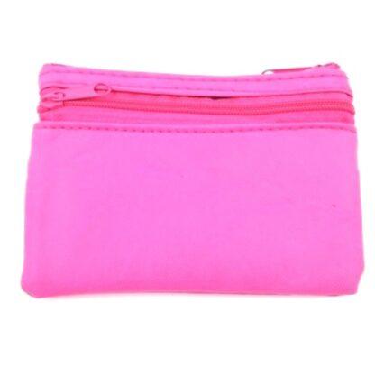 Πορτοφόλι κερμάτων με φερμουάρ ροζ2