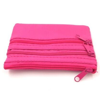 Πορτοφόλι κερμάτων με φερμουάρ ροζ3