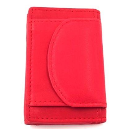Πορτοφόλι κλειδοθήκη δερμάτινη κόκκινο2