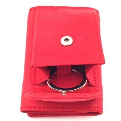 Πορτοφόλι κλειδοθήκη δερμάτινη κόκκινο5