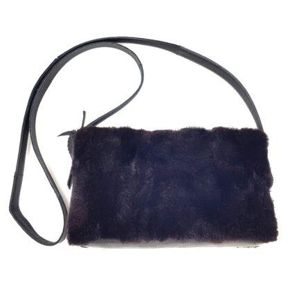Τσάντα γούνινη βιζόν μαύρο