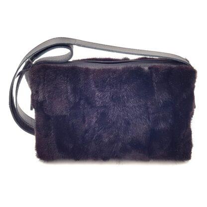 Τσάντα γούνινη βιζόν μαύρο2