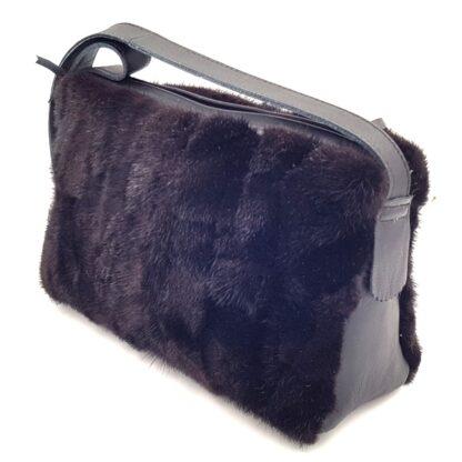 Τσάντα γούνινη βιζόν μαύρο3